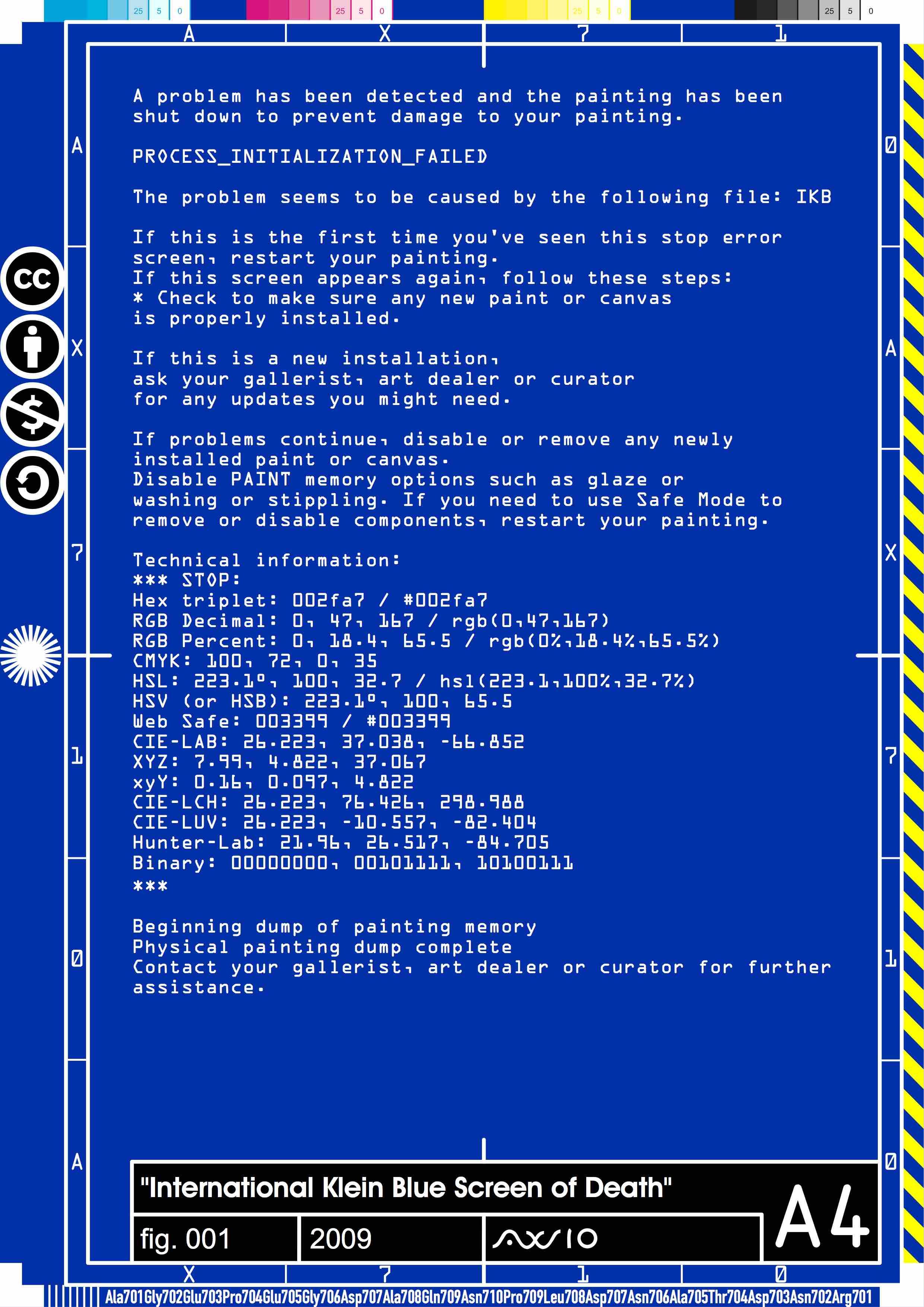 International Klein Blue Screen Of 2009